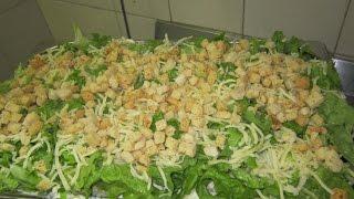 Слоеный салат цезарь рецепт