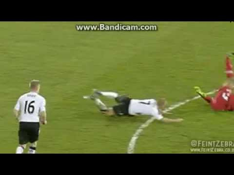 Steve Sidwell sent off(horror foul) vs QPR 01.04.2013
