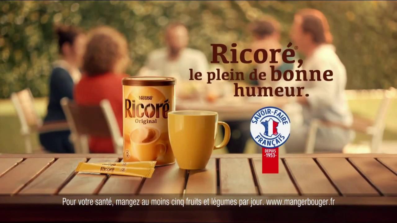 """Musique de la pub Ricoré original Nestlé (savoir-faire français) """"le plein de bonne humeur""""  2021"""