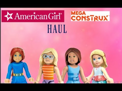 American Girl Doll Legos Mega Construx Haul Kohl's Saige Paints The Sky Camille WellieWishers Toys