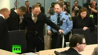 Video: el asesino de Noruega, Anders Breivik, rinde cuentas en la Corte