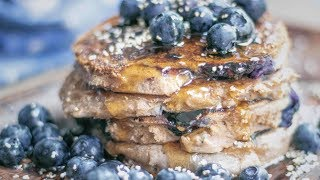 Blueberry Protein Pancakes - Vegan and Gluten Free