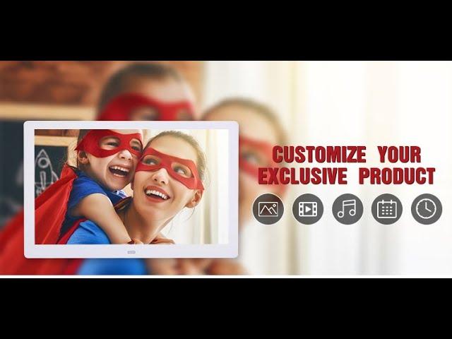 7 inch Digital Calendar Video Media Player Photo Frame with Time Alarm