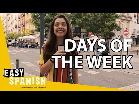 Tiếng Tây Ban Nha bài 5: Thứ tư tôi đi làm