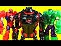 Imaginext Robot Wars Ultimate Battle With Batman Batbot Mech Armor Spider-man Iron Man And Hulk