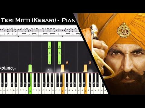 teri-mitti-(kesari)-||-(easy-to-advanced)-piano-tutorial-+-music-sheet-+-midi-with-lyrics