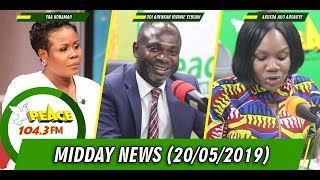MIDDAY NEWS LIVE ON PEACE 104.3 FM (20/05/2019)