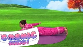 Squish The Fish | A Cosmic Kids Yoga Adventure!(Episode 1 | Squish The Fish | A Cosmic Kids Yoga Adventure! A kids yoga class all about learning confidence. Stream our videos ad-free: http://cosmickids.vhx.tv ..., 2012-05-05T16:43:21.000Z)