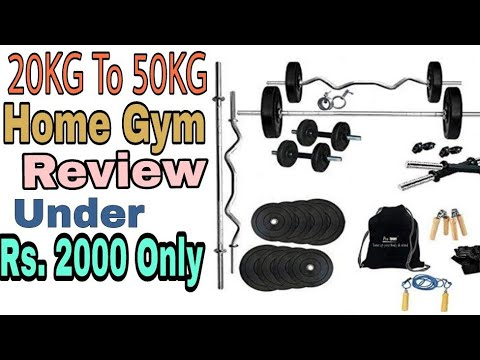 20Kg To 50Kg Home Gym Set Review | Home Gym Equipment Under 2000 Rs on Amazon | Gym ka saman