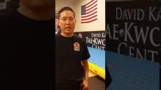 airtrack testimonial from martial arts master of TaeKwonDo