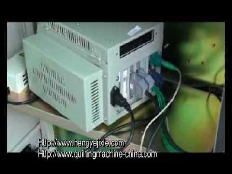 HY W JH quilting machine & HY QG 3 panel cutter machine INSTALLATION VIDEO