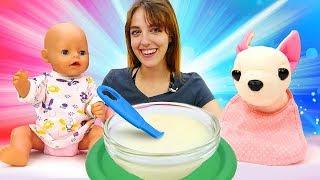 Compilation de meilleurs vidéos pour enfants/Comme maman/36 min d'histoires de bébé born Emily