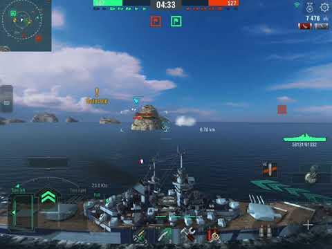World of Warships Blitz, République gameplay 125K  damage, Atlantic Map |
