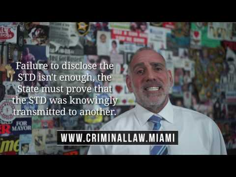 190) What is Knowing Transmission of a STD? ~ Michael A Haber Miami Criminal Defense DUI BUI Lawyer