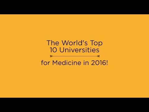 Top 10 Universities for Medicine in 2016