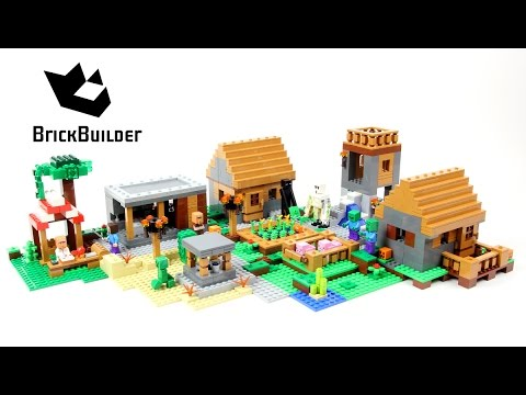 Lego Minecraft 21128 The Village Lego Speed Build Youtube