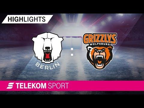 Eisbären Berlin – Grizzlys Wolfsburg   12. Spieltag, 18/19   Telekom Sport