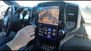 Interior features of the 2019 Ram heavy duty