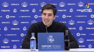 Rueda de prensa de Andoni Iraola tras el RC Deportivo vs CD Mirandés (1-1)