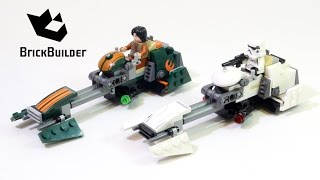 Lego Star Wars 75090 Ezra's Speeder Bike - Lego Speed Build