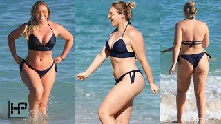 Model Iskra Lawrence Hot Pics In A Bikini -- Hits Miami Beach