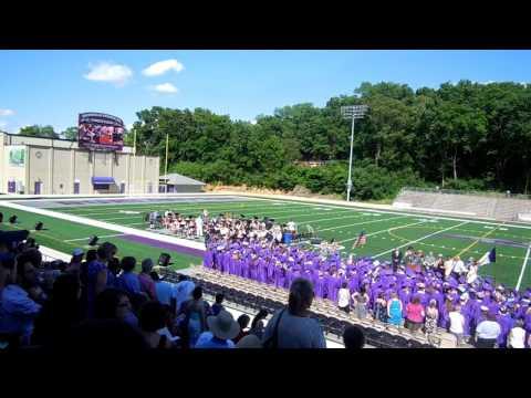 Burlington Community High School tassel throw