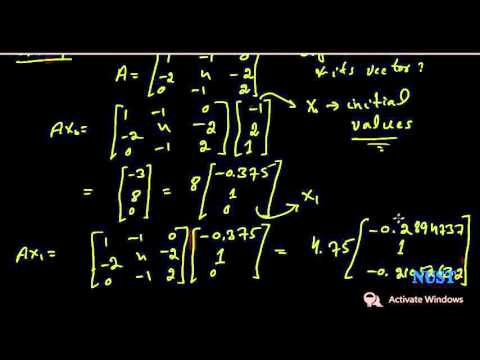 9.1-Power method for Eigenvalues (numerical analysis)