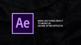 How To Make Anything React To Music In After Effects Using Trapcode Sound Keys