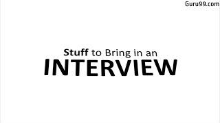 What to bring to a JOB Interview: Interview Tips