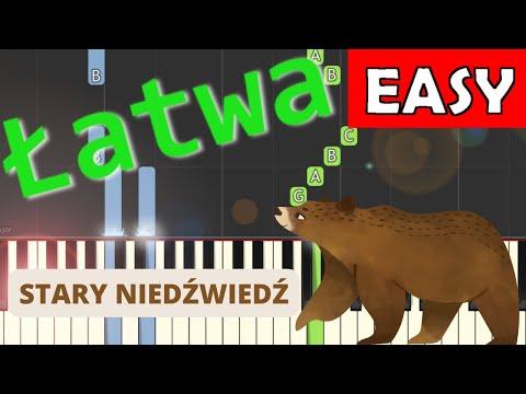 🎹 Stary niedźwiedź mocno śpi - Piano Tutorial (łatwa wersja) 🎹