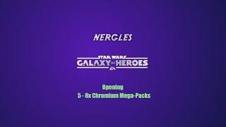Opening 5 - 8x Chromium Mega-Packs = 40 Chromium Data Cards  Stars Wars Galaxy of Heroes