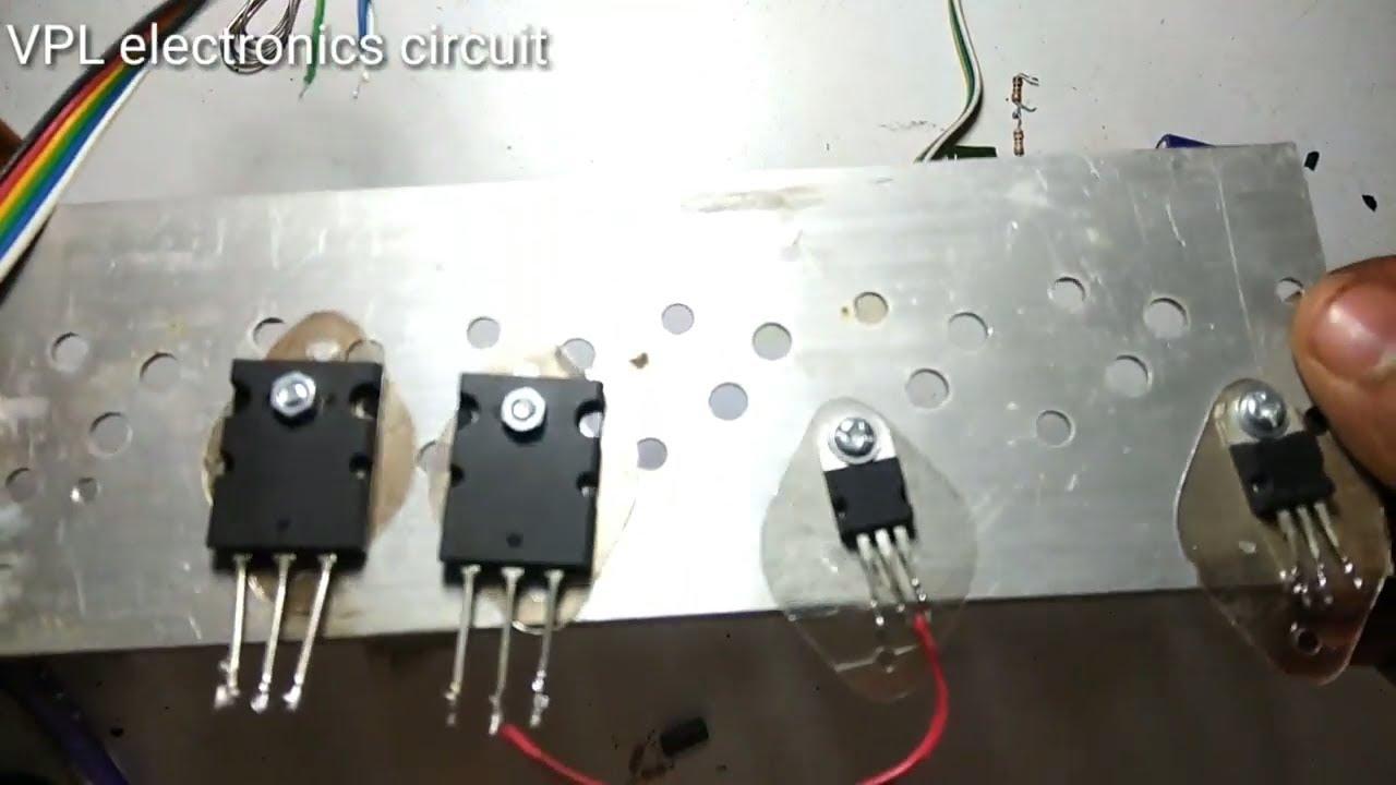 two transistor audio amplifier circuit 2n3055 2sc5200 [ 1280 x 720 Pixel ]