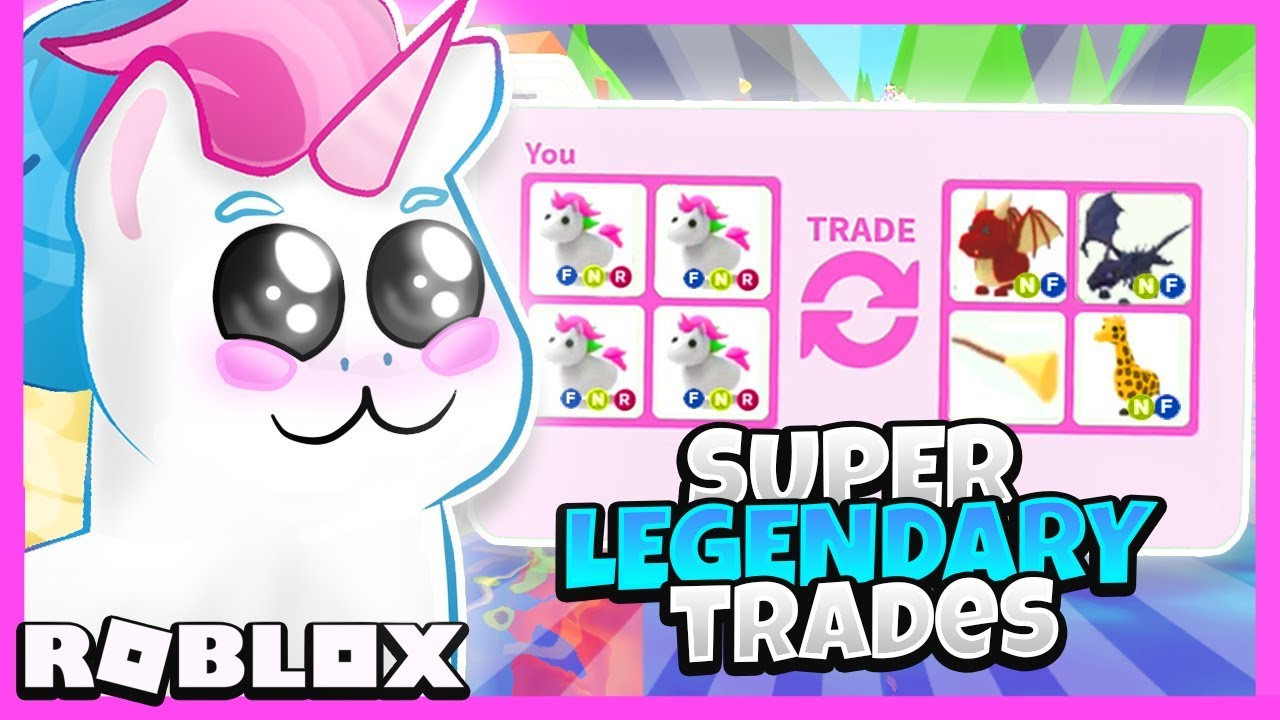 I Traded Only Flying Legendary Unicorns In Adopt Me For 24 Hours