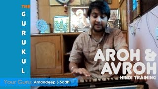 Learn Indian Classical Singing, Aroh and Avroh practice, Free Lessons, on The Gurukul
