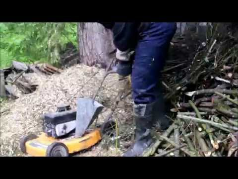 Lawn mower wood chipper that really works!