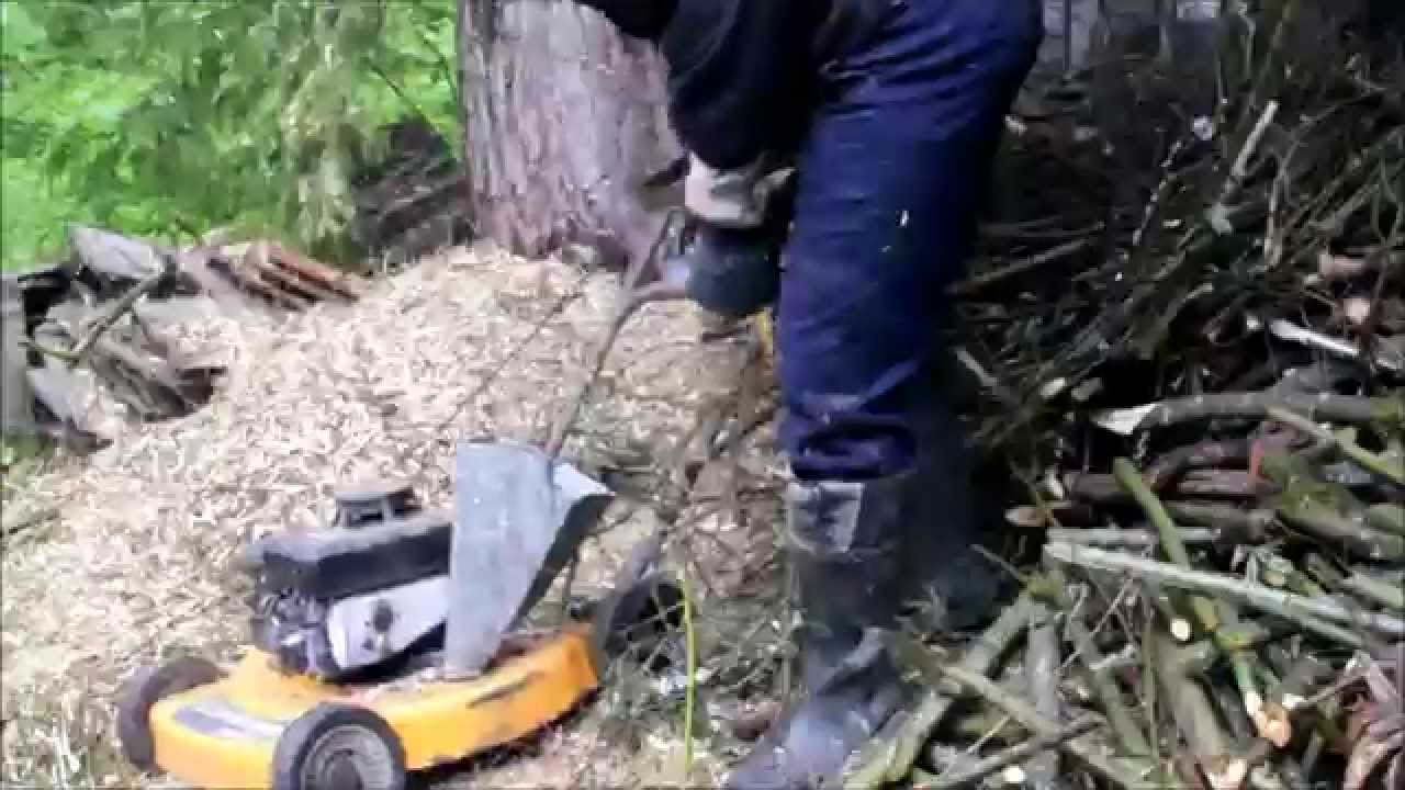 Lawn Mower Wood Chipper That Really Works Youtube