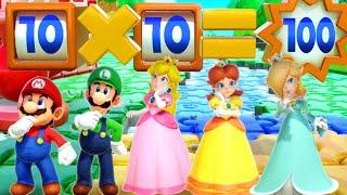 Super Mario Party MiniGames - Daisy Vs Mario Vs Peach Vs Luigi (Master Cpu)