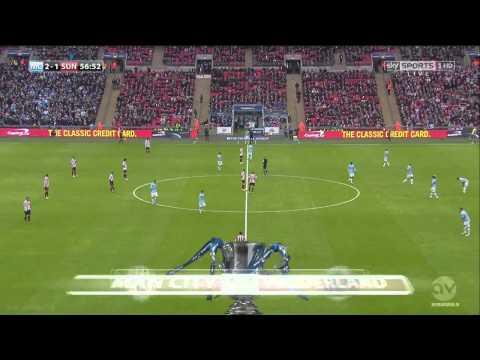 Samir Nasri goal Man.City Sunderland 03.02.2014