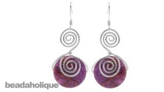 How to Make the Calypso Wire Spiral Earrings