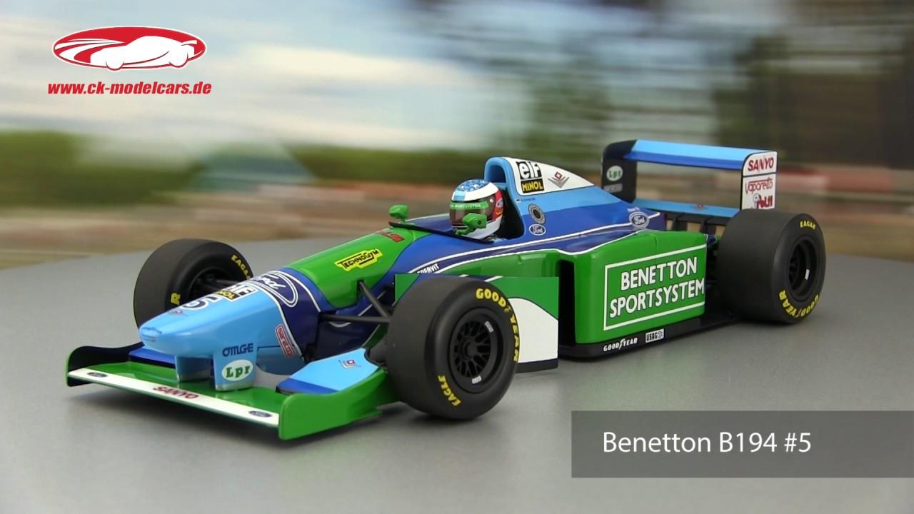 Ck Modelcars Video Michael Schumacher Benetton B194 5 Weltmeister Formel 1 1994 Minichamps