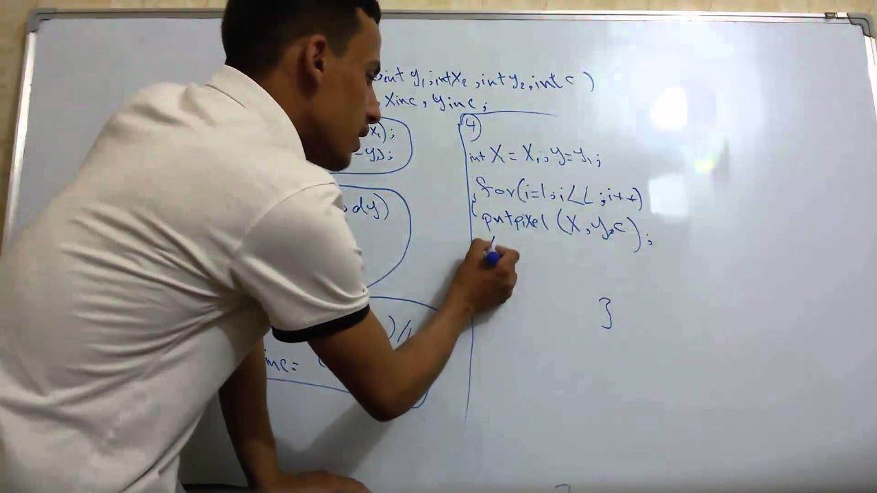 Midpoint Line Drawing Algorithm In Computer Graphics Pdf : Ddaline algorithm لرسم الخط المستقيم dda خوارزمية يدوي youtube