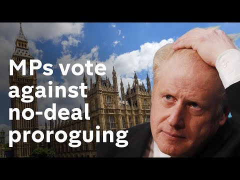 No-deal Brexit: MPs vote to stop PM proroguing parliament