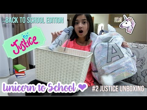 Unicorn to School ♥︎ #2 Justice Unboxing ~ Back to School Edition (Indonesia) | Friendship DIY