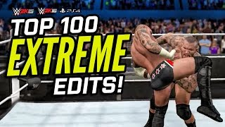 Top 100 Extreme Edits! (Epic Counters & Moves) | WWE 2K15 / WWE 2K16