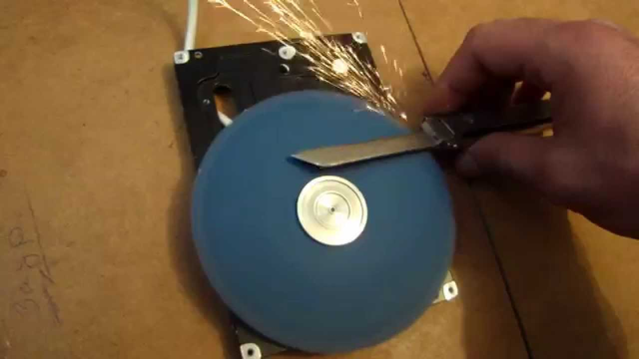 Making a Hard Drive Rotary Sander   RECOIL OFFGRID on