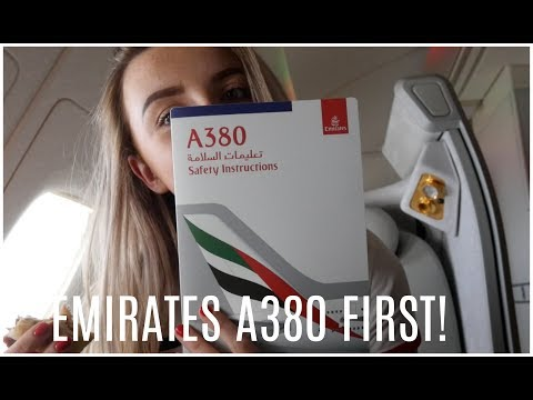Emirates A380 FIRST CLASS to Dubai! | VLOG | BlueBee