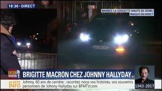 Brigitte Macron quitte la résidence de Johnny Hallyday