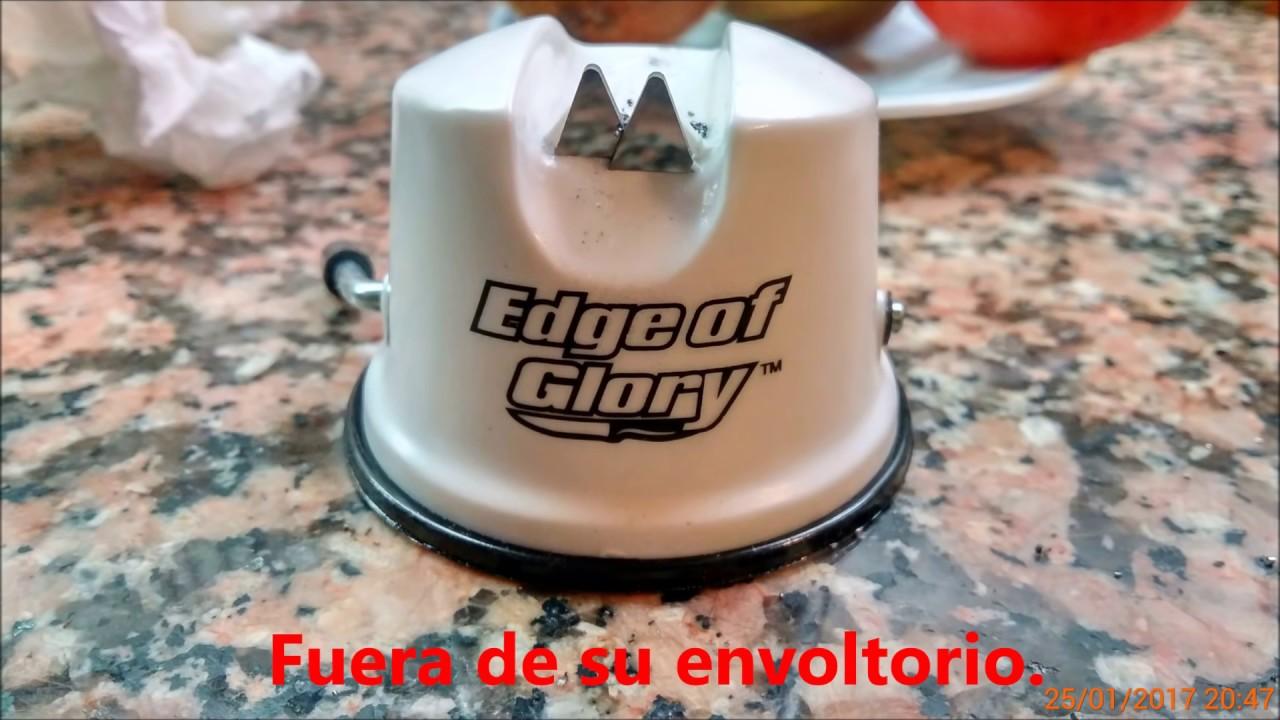 AFILADOR CUCHILLOS EDGE OF GLORY - PRUEBA - YouTube d44878d76bc1