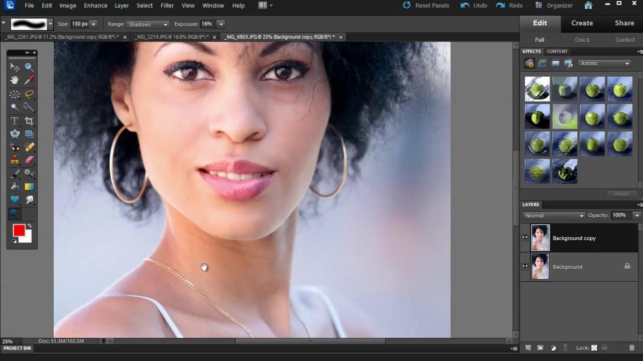 Photoshop Elements Burn And Dodge Tools Youtube