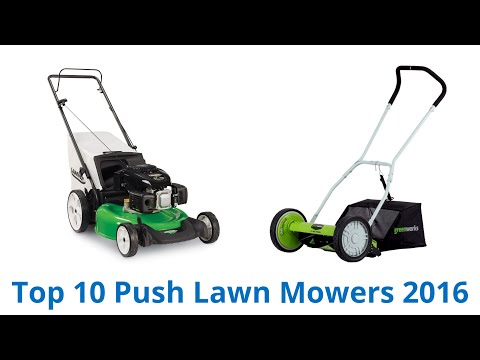 10 Best Push Lawn Mowers 2016